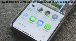 How to Remove Contacts from Share Sheet in iOS 13 and iPad 13 – Office Setup