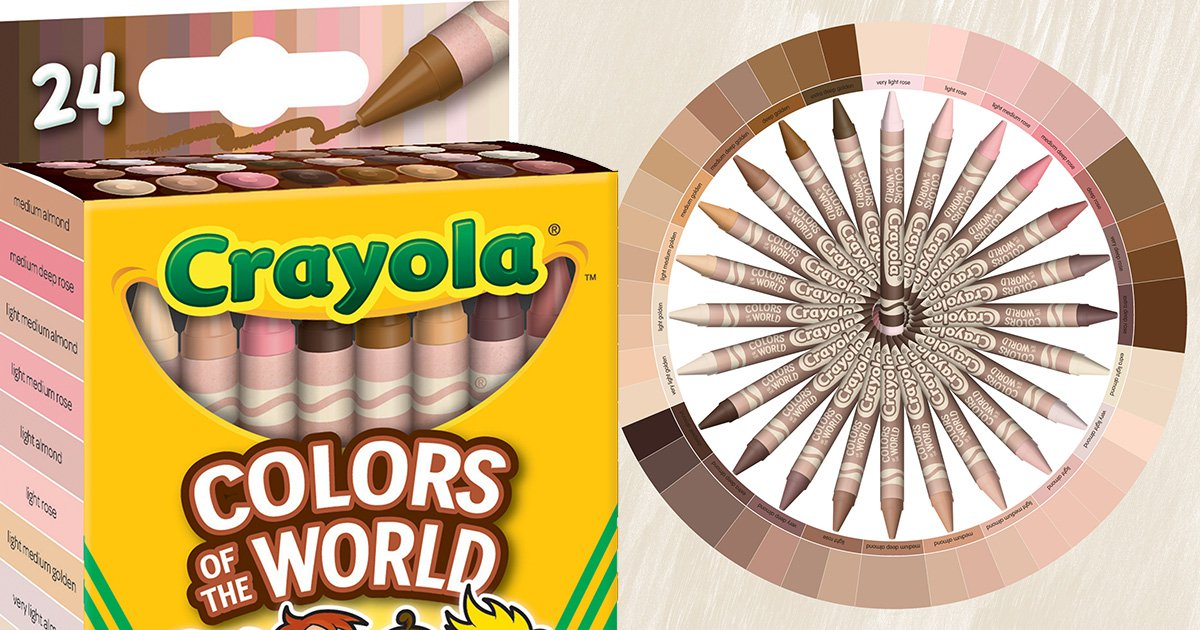 Crayola launches skin tone crayons so 'all kids can colour themselves'