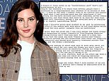 Lana Del Rey shares 'final notes' regarding her controversial Instagram post following backlash