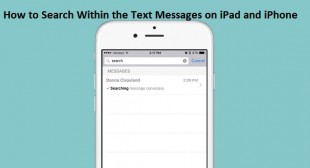 How to Search Within the Text Messages on iPad and iPhone