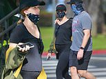 Chris Pratt and pregnant Katherine Schwarzenegger take stroll