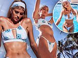 Victoria's Secret vet Devon Windsor models a new 'itty bitty' string bikini
