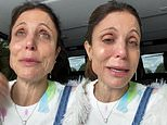 Bethenny Frankel cries over the 'hate in this world' as she returns to NYC following protests