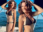 Luann de Lesseps, 55, shows off her age-defying body as she soaks up the sun