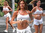 RHONY's Kelly Bensimon, 52, jogs in Central Park in heatwave